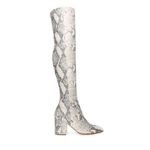 NWT Steve Madden Jacey Snake Over the Knee Boots